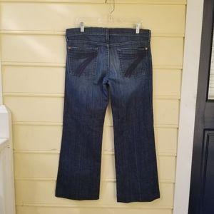 7 For All Mankind Dojo Dark Rinse Flare Jeans